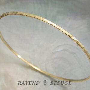 hammered gold bangle