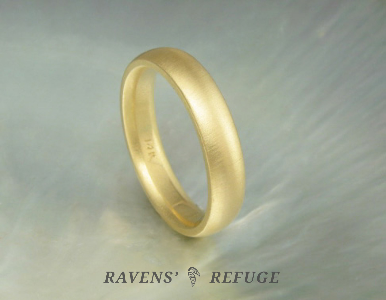 Clic Gold Wedding Band Hand Forged Ring