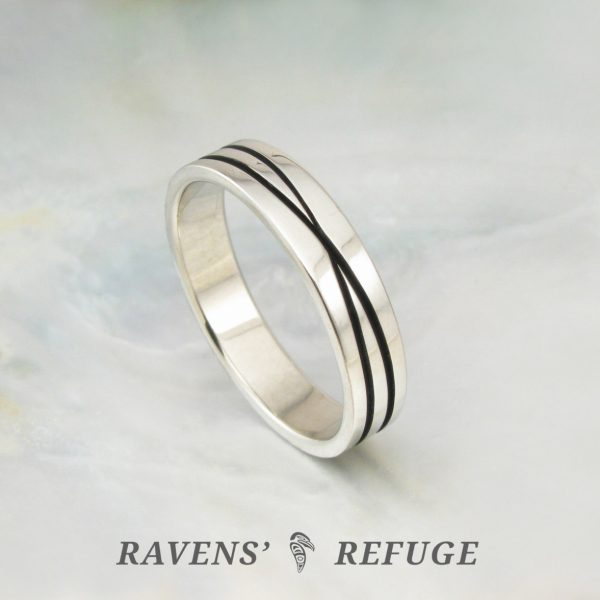 unique infinity ring – criss cross wedding band