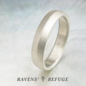 knife edge wedding ring – ecofriendly wedding band