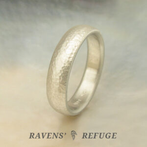textured gold wedding band – sustainable metal ring