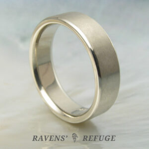 plain men's wedding band, artisan handmade