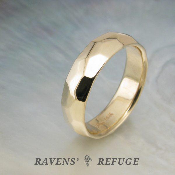 organic men's wedding band – unconventional men's ring