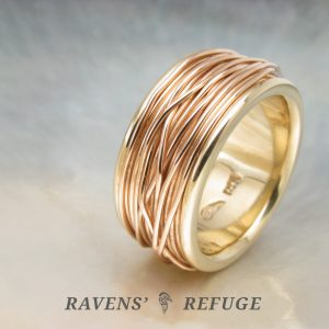 coiled ring – spool ring – unique wedding band