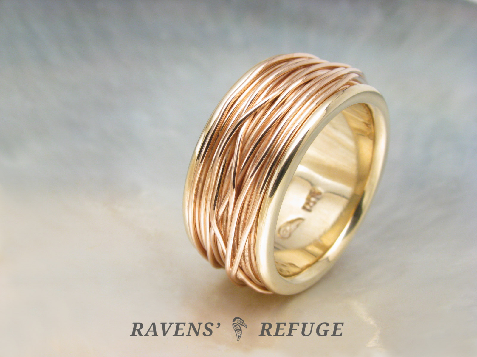 Unique Wedding Ring.Coiled Ring Spool Ring Unique Wedding Band