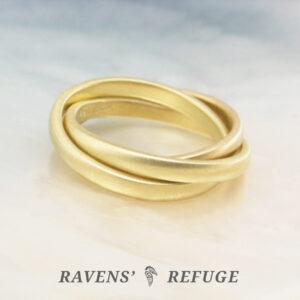 interlocking gold band ring – Russian wedding ring