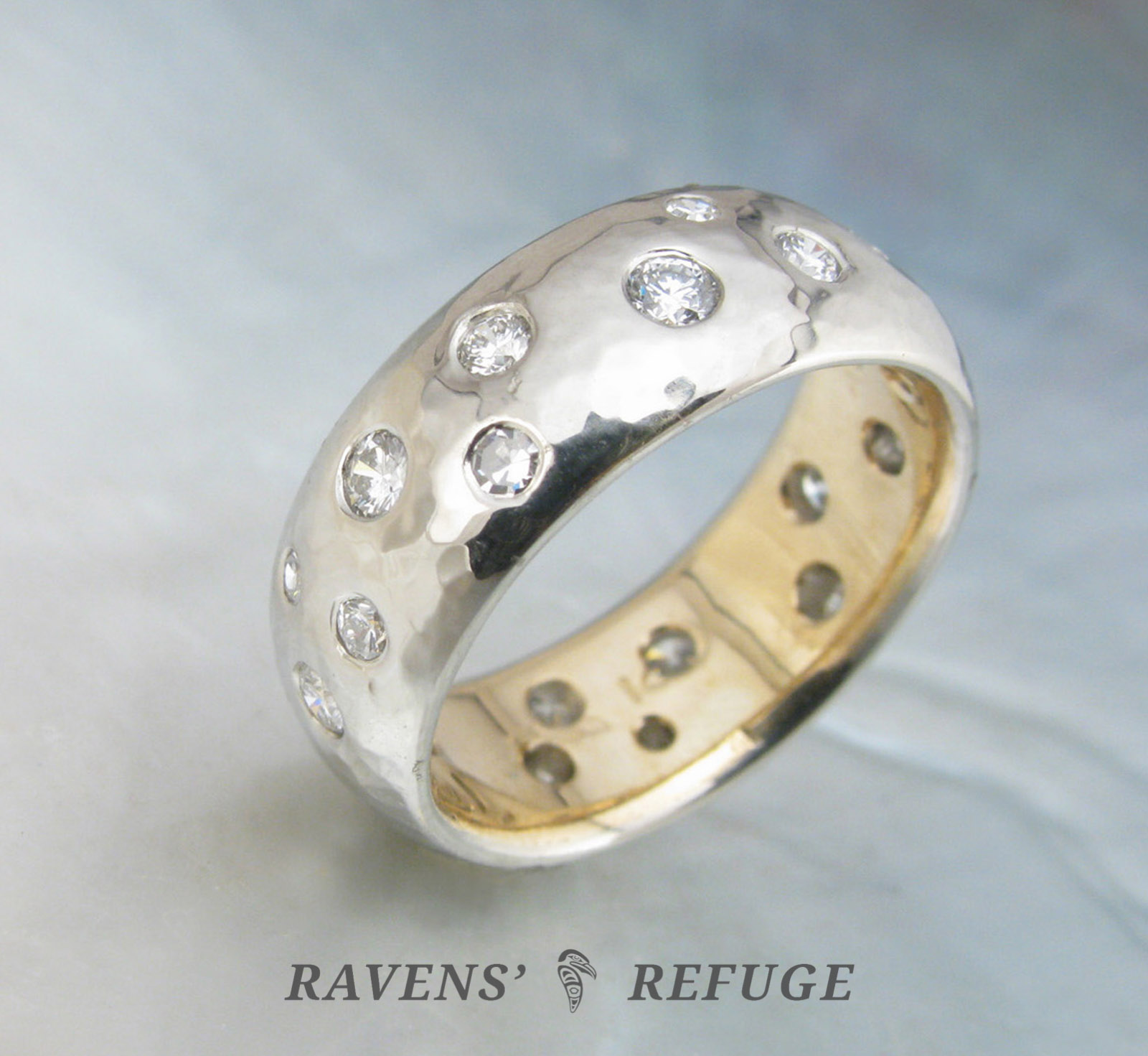 original two in rings by notonthehighstreet wedding macleod alison product alisonmacleod platinum com ring band patterned