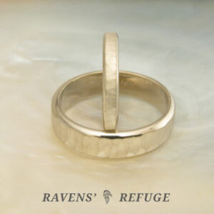 his hers wedding bands – matching hammered rings
