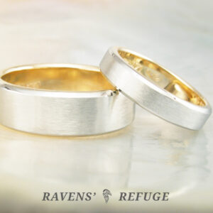 simple wedding bands with liners – hand forged
