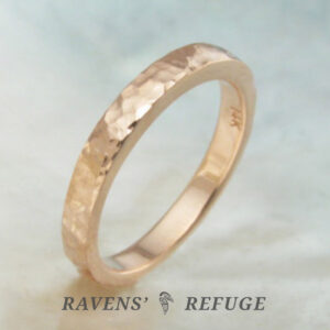 artisan hammered gold ring – organic stacking ring