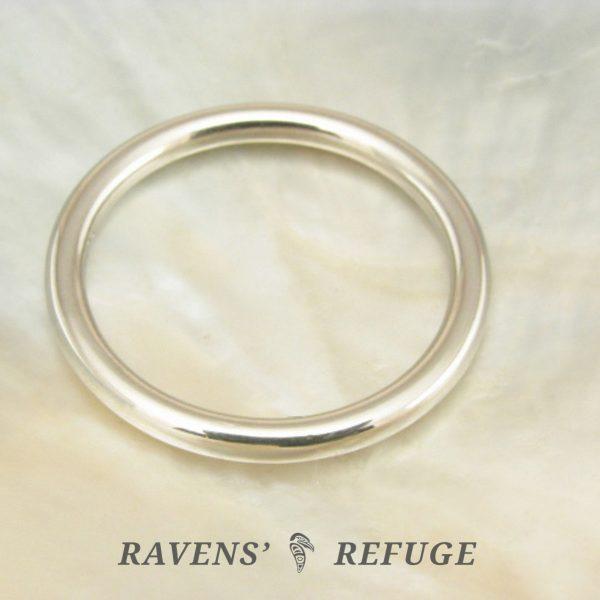 platinum full round ring — wedding band, artisan handmade