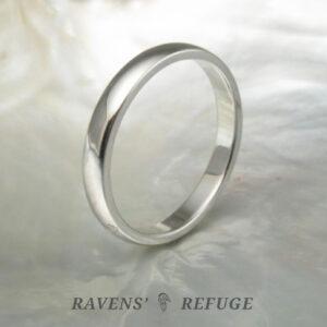 classic wedding band – domed platinum wedding ring