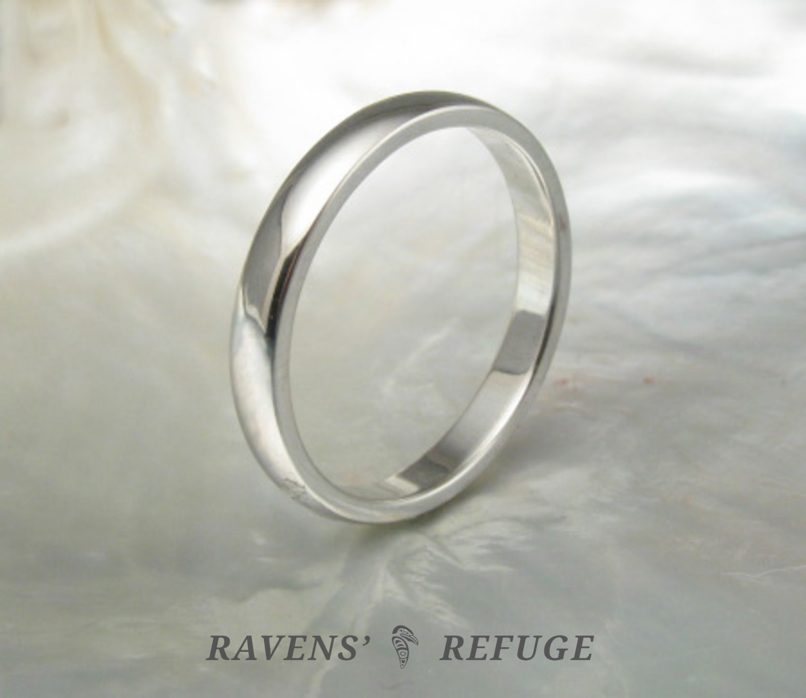classic wedding band � domed platinum wedding ring