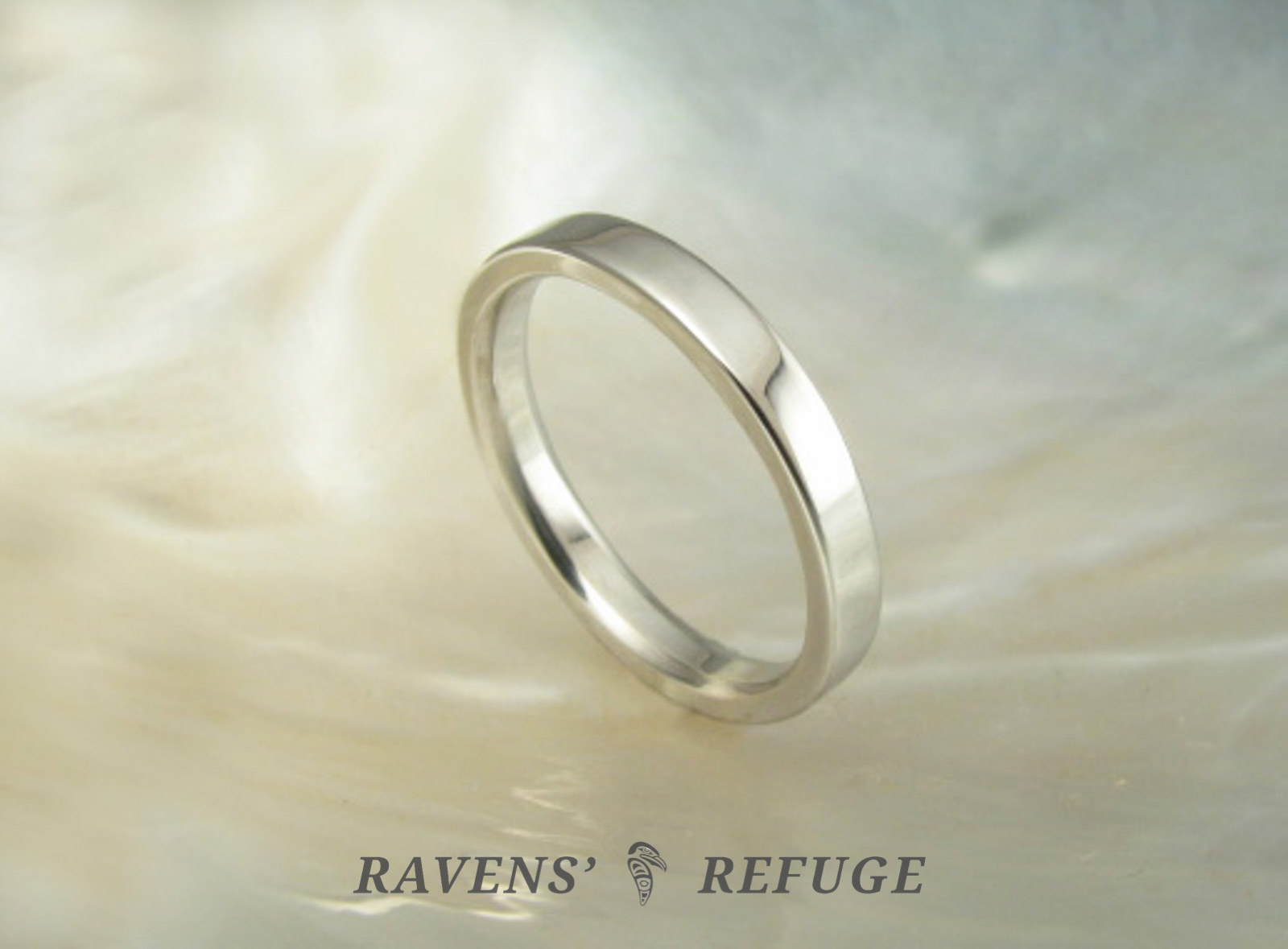simple flat wedding band platinum wedding ring ravens