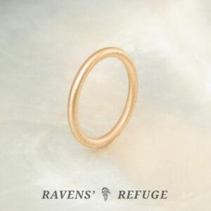handmade full round wedding band — 18k apricot gold ring