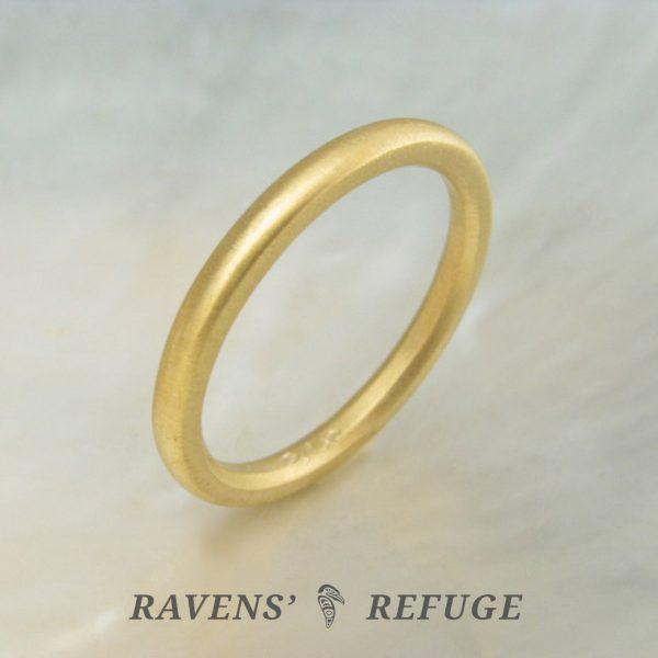 simple wedding band – 21k wedding ring