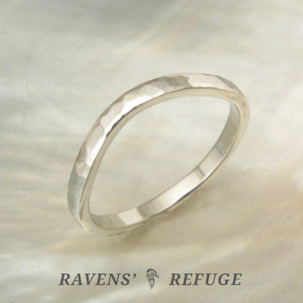 curved wedding band – contoured platinum ring