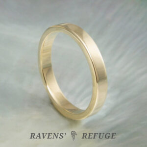 flat wedding band – simple gold wedding ring