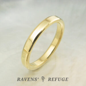 simple wedding ring – hand forged gold band