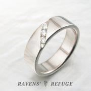 men's modern wedding band with channel-set diamonds