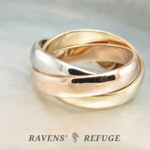 chunky tricolor rolling ring
