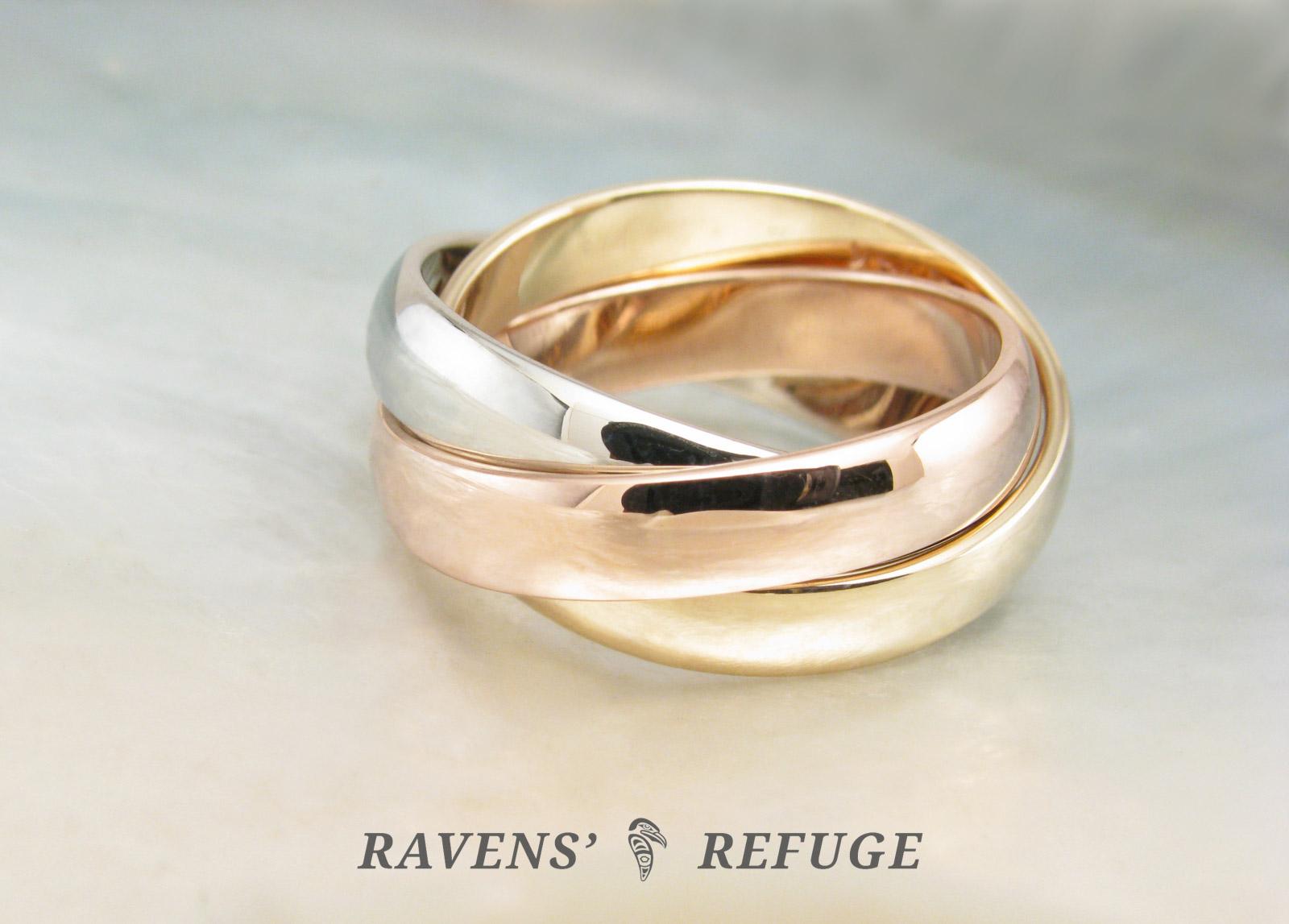 Rolling Ring Rose Gold