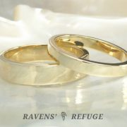 basic wedding bands – flat gold wedding rings