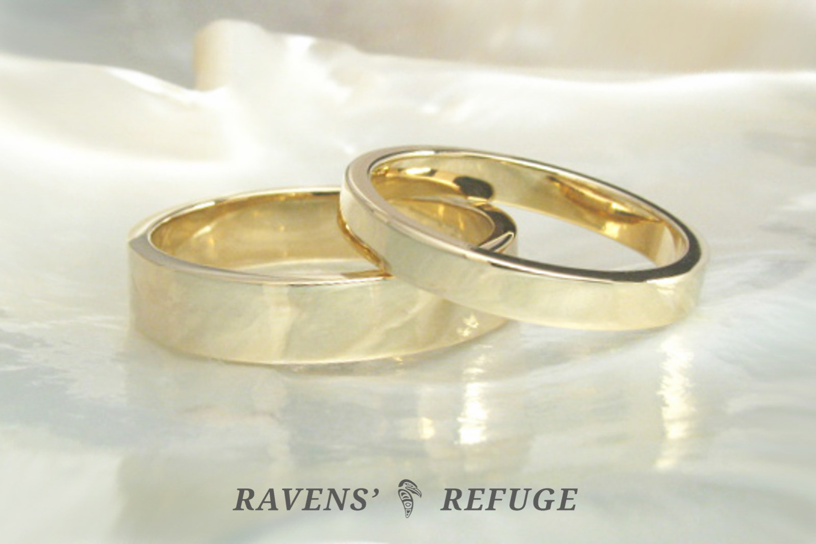 product refuge flat bands wedding engagement ravens gold basic rings