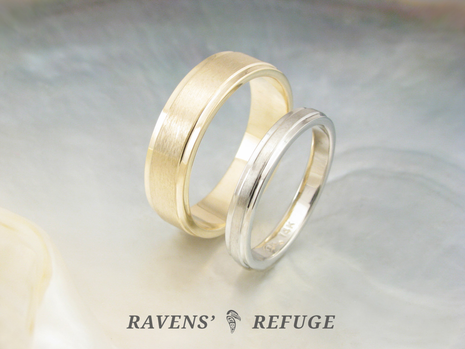 It is just a photo of his and hers wedding rings – simple wedding band set