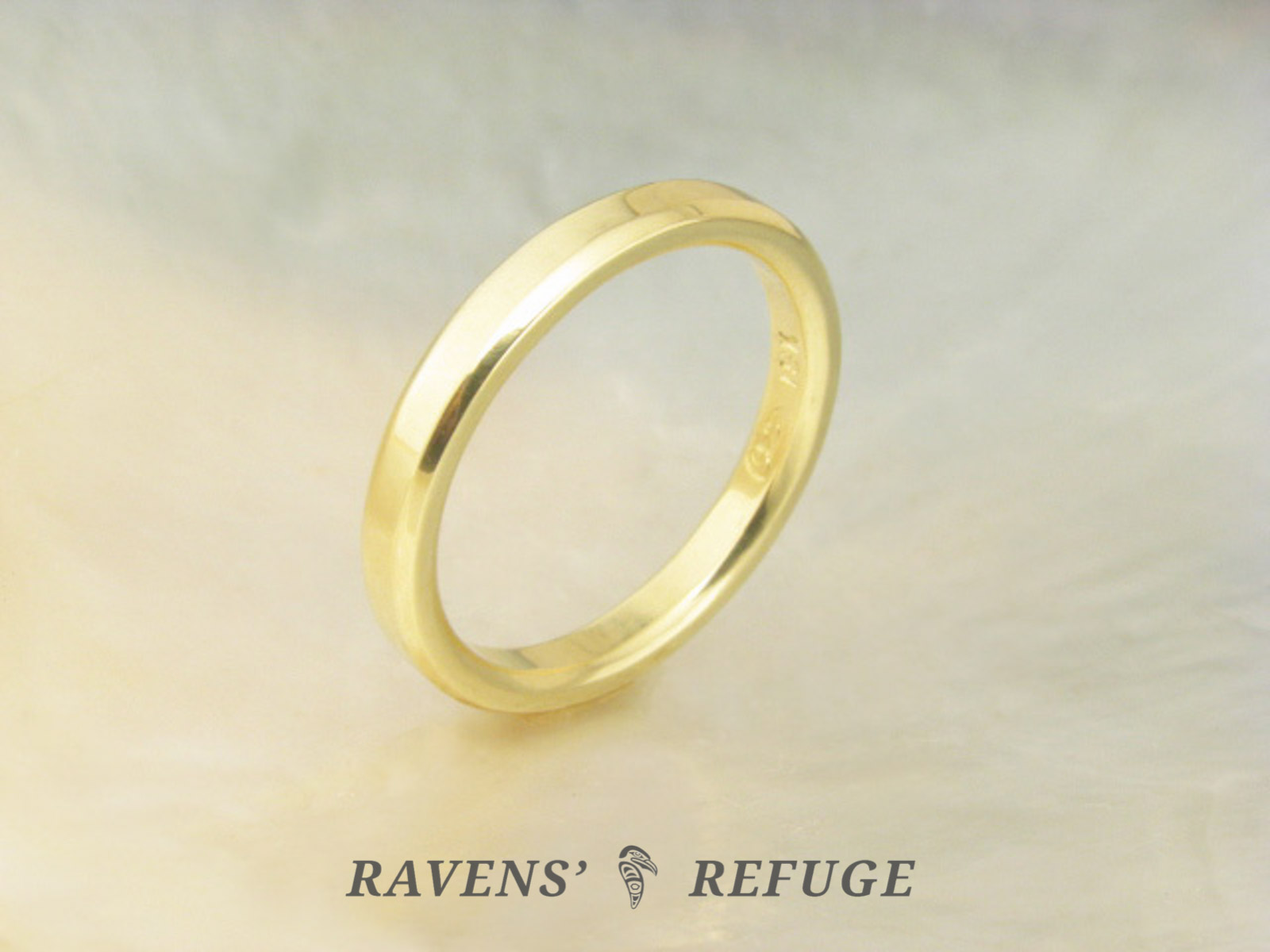 Simple Wedding Ring Hand Forged Gold Band Ravens Refuge