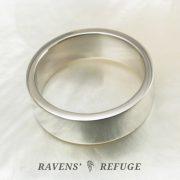 simple 7mm platinum wedding band – flat men's ring