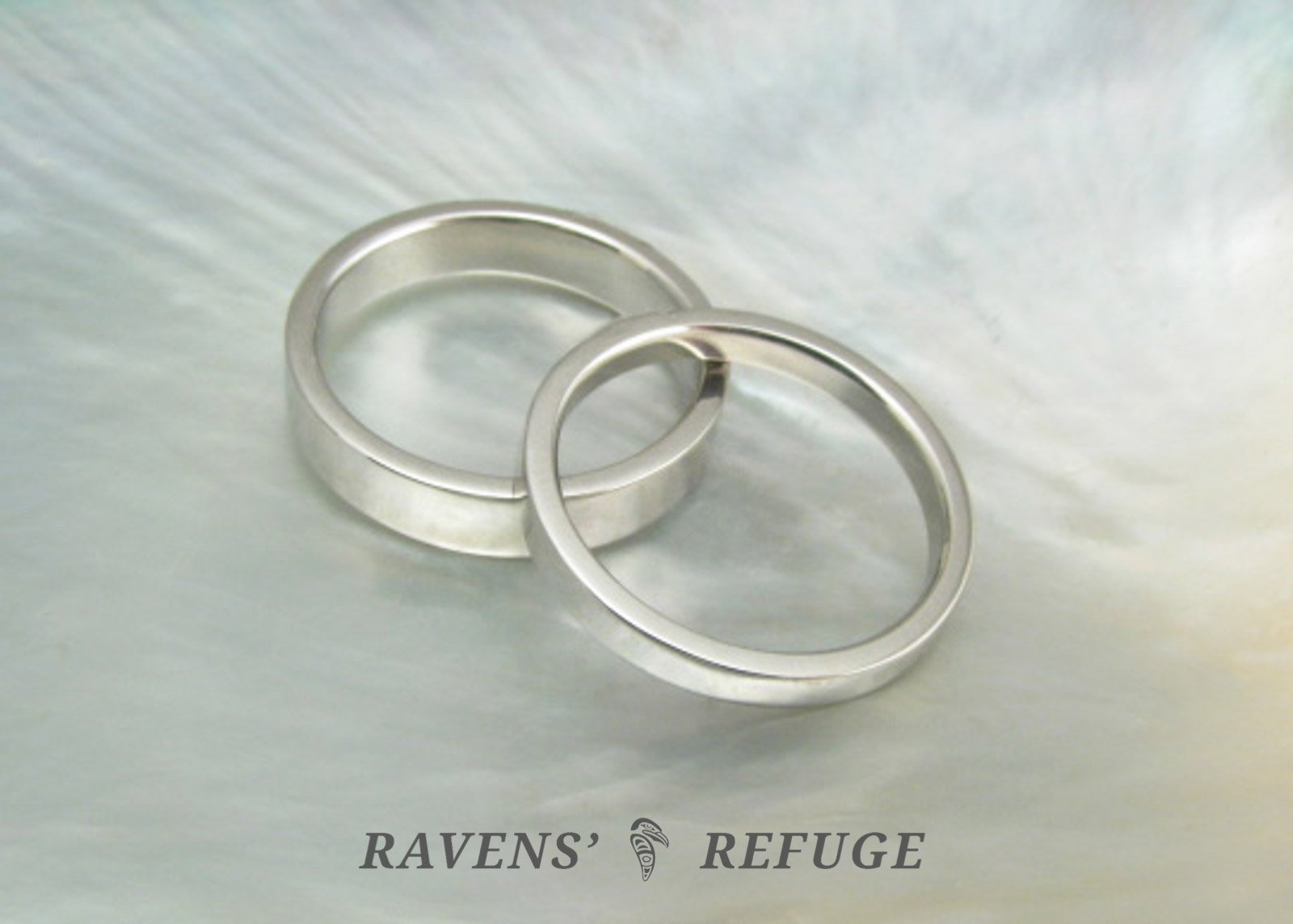 his and hers simple platinum wedding bands ravens refuge