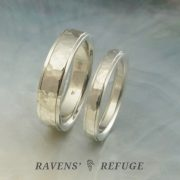 hand forged wedding bands – hammered rings with stepped edges