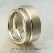 handmade white gold wedding bands – simple wedding rings