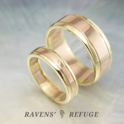 unique wedding bands – matching two tone rings