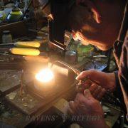organic platinum wedding band ring, artisan handmade