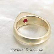 unique ruby engagement ring, hand forged