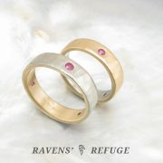 unique wedding rings – his and hers two tone bands