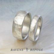 rustic wedding rings – his hers wedding band set