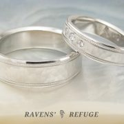 matching platinum wedding bands – his hers platinum rings