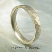 rugged wedding band – 4mm rustic men's ring