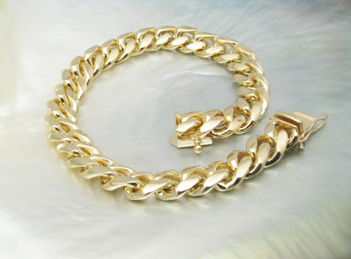 Handmade Chain Link Bracelet Solid