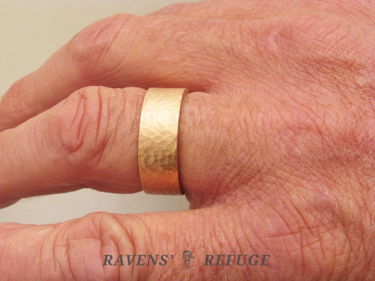 8mm Wedding Band On Hand