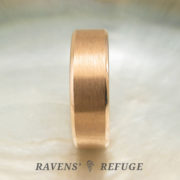 7mm rose gold ring