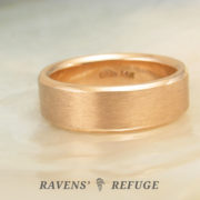 7mm rose gold wedding band