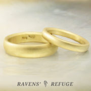 18k gold wedding set