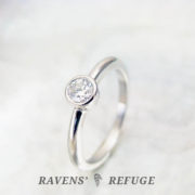 platinum diamond bezel solitaire