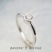 platinum bezel engagement ring